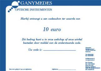Ganymedes cadeaubon van 10 euro