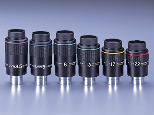 "8mm LVW oculair, 1,25""en 2""."